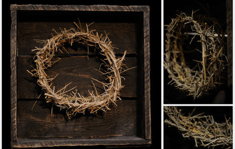 CROWN OF THORN WITH RECLAIMED BARNWOOD SHADOW BOX
