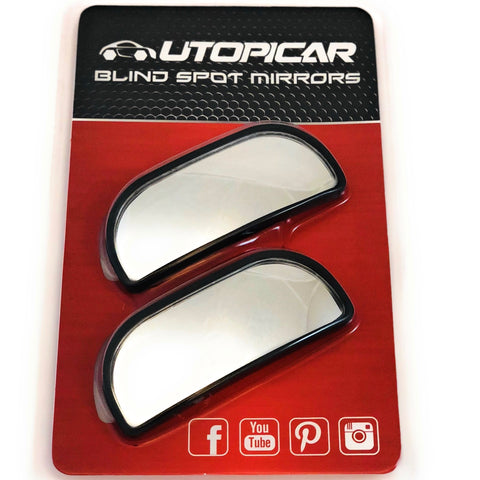 New Blind Spot Mirrors – Updated Design -- [Adjustable] (2 pack)