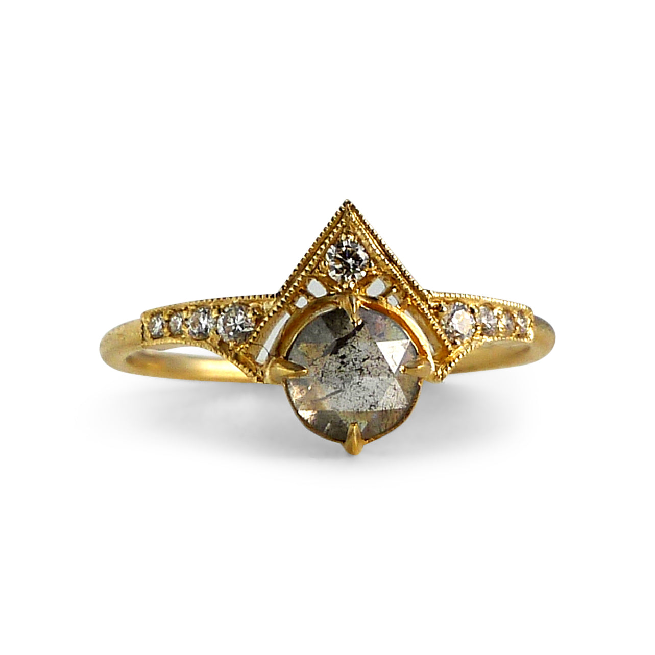 Cara Ring with Salt and Pepper Diamond