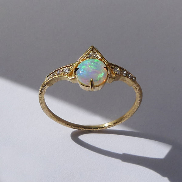 Cara Ring with Opal Cabochon