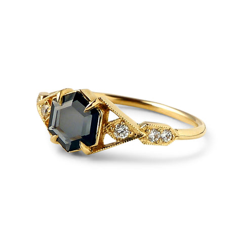 Casia Vestra Ring with Portrait Cut Spinel