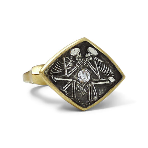Dulcis Mortem Ring with 14k and Oxidized Silver
