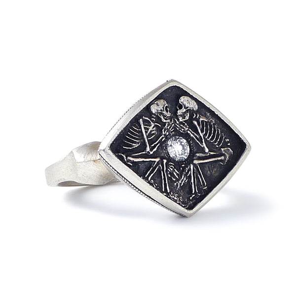 Dulcis Mortem Ring with Oxidized Silver