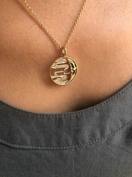Smoky Moon Pendant