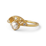 Leanne Ring w/ White Rose Cut Diamond