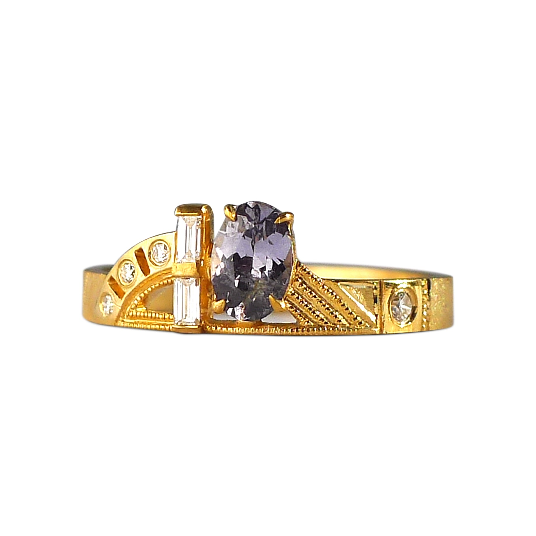 Composition Ring w/ Lavender Spinel
