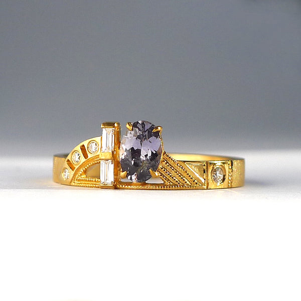 Composition Ring with Lavender Spinel
