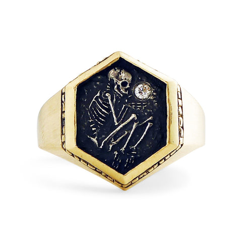 Shallow Grave Ring w/ Gold & Silver