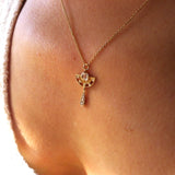 Arden Pendant w/ Diamond Drop
