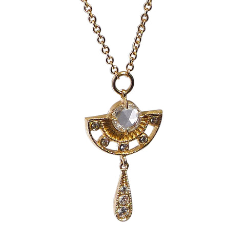 Arden Pendant with Diamond Drop