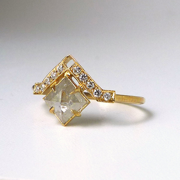 Artio Ring with Icy Gray Diamond