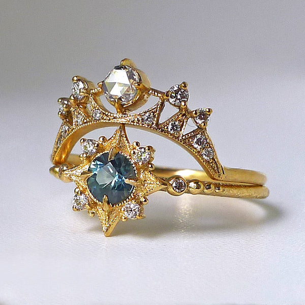 Astrid Luna Ring with White Diamonds
