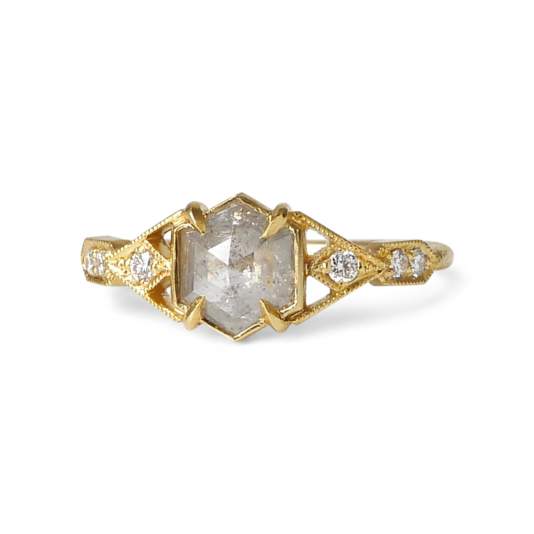 Casia Vestra Ring w/ Icy Gray Diamond