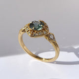 Basilea Ring with Teal Montana Sapphire