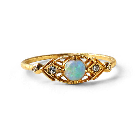 Isadora Ring w/ 4mm Opal Cabochon
