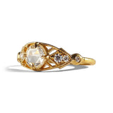 Isadora Ring w/ 5mm White Rose Cut Diamond