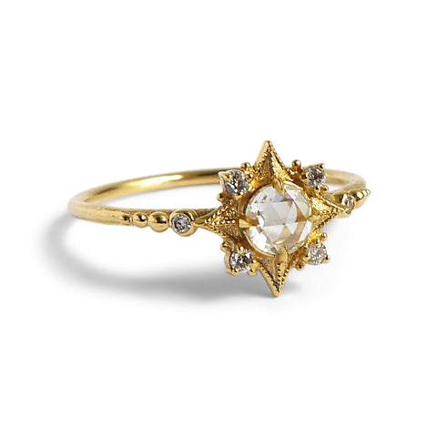 Sabine Nova Ring w/ White Rose Cut Diamond