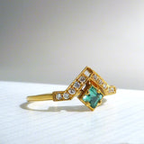 Artio Ring with Green Tourmaline