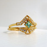 Artio Ring w/ Green Tourmaline