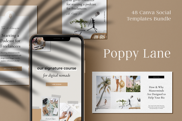 Poppy Lane Canva Social Bundle