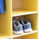 Small compartments are perfect for shoe storage.