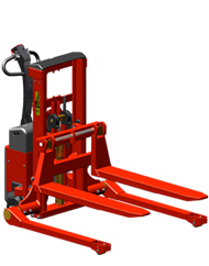 Logiflex Stacker, <br>Fully Powered - Straddle Legs, <br>Model SELFS MINI