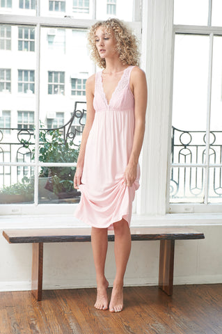 Marie Bella Italia Long Chemise | Pink Icing