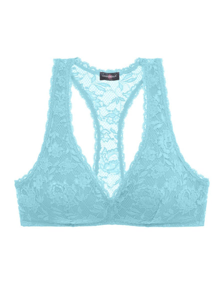 NEVER SAY NEVER PADDED RACIE™ RACERBACK BRALETTE | Crystal Blue