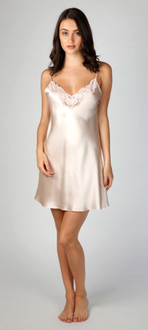 Christine Design Sugar Silk Chemise | Rose
