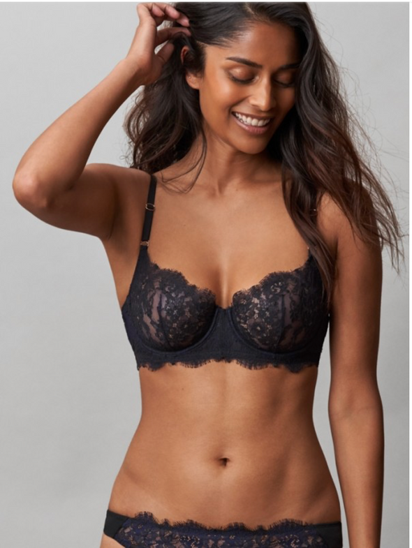 Entice Balconette Bra | Midnight