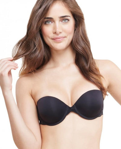 OnGossamer Gossamer Mesh Strapless Bump-It-Up Bra | Black