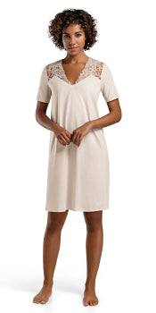 Daphne Short Sleeve Gown | Beige