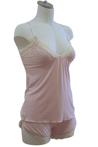 Marie Bella Celine Cami and Shortie Set | Light Pink