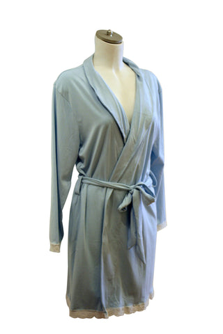 Marie Bella Flora Robe | Light Blue