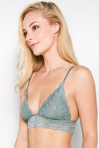 Boutique Collection Mya Lace Triangle Bralette | 4 Colors Available