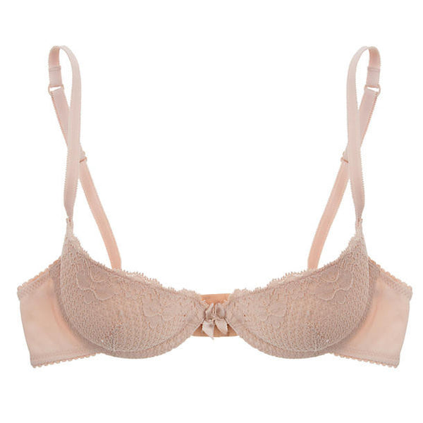 Duet Lace Padded Demi Bra | Nude