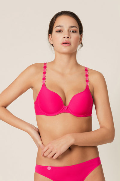 Tom Heart Shape Bra | Electric Pink
