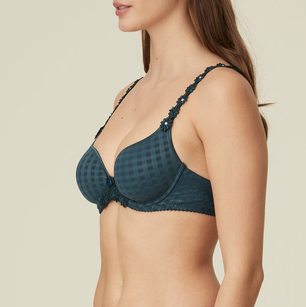 Avero Heart Shape Bra | Empire Green