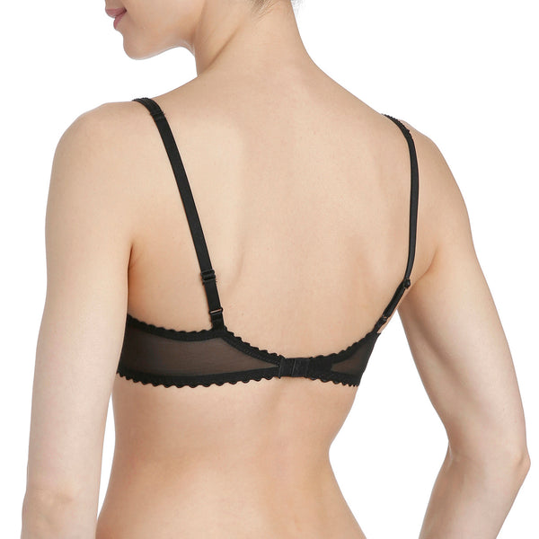 JANE Balconette T shirt Bra | Black