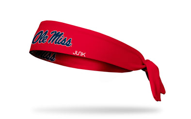 University of Mississippi: Ole Miss Red Tie Headband