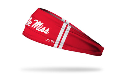 University of Mississippi: Ole Miss Stripes Red Headband