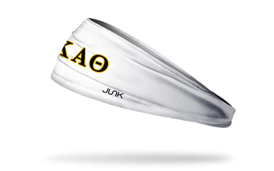 Kappa Alpha Theta (Theta) Greek Letters White Headband