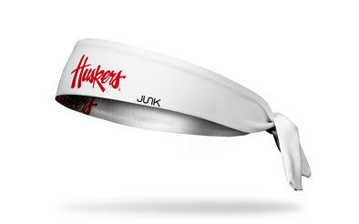 University of Nebraska: Huskers White Tie Headband