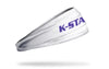 Kansas State University: Wordmark White Headband