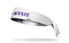 Kansas State University: Wordmark White Tie Headband