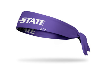 Kansas State University: Wordmark Purple Tie Headband