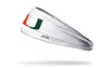 University of Miami: Logo White Headband