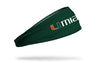 University of Miami: Wordmark Green Headband