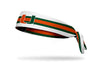 University of Miami: Helmet Stripes Tie Headband