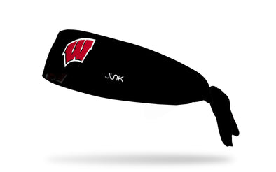 University of Wisconsin: Logo Black Tie Headband